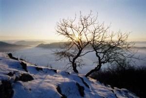 Východ slnka z Manína